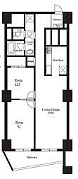 東十条マンション[0614号室]の間取り
