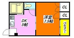 ハイム・フォレスト 402号室[4階]の間取り