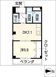 プレステージ目黒[2階]の間取り