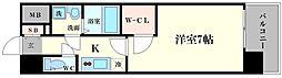 エスプレイス難波サウスゲート[5階]の間取り