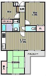 コート古野[3階]の間取り
