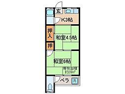 京都府宇治市伊勢田町毛語の賃貸マンションの間取り