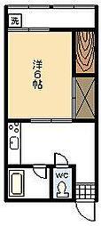 豊荘[205号室]の間取り