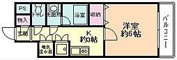 KWプレイス平野[306号室]の間取り