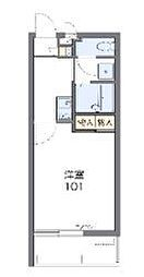 沖縄都市モノレール 浦添前田駅 3.8kmの賃貸マンション 3階1Kの間取り