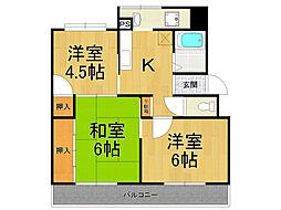 レオーネマンション[1階]の間取り