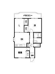 ガーデンハウス石山寺[300号室]の間取り