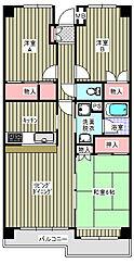 カーサ・フィヨーレ3[403号室]の間取り