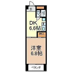 レスカール千代田[5階]の間取り