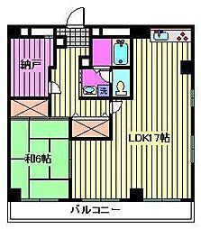 石田マンション[2階]の間取り
