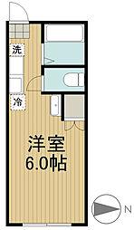 富士ハイツ[105号室]の間取り