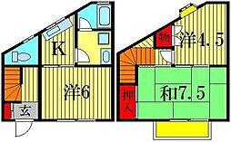 [テラスハウス] 東京都葛飾区高砂3丁目 の賃貸【/】の間取り