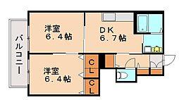 ファミール那珂川[1階]の間取り