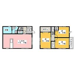 [一戸建] 静岡県静岡市駿河区みずほ3丁目 の賃貸【/】の間取り