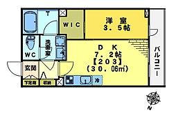 mizunoto[2階]の間取り