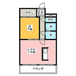 ウエストヒルズ西御堂[4階]の間取り