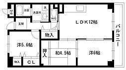 レルンブラール[3階]の間取り