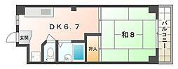 ラ・フォーレ古川橋[3階]の間取り
