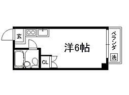 室町北野マンション[201号室]の間取り