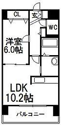 北海道札幌市中央区南七条西7丁目の賃貸マンションの間取り