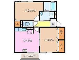 コスモスハウス[2階]の間取り