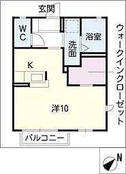 ピアチェーレ中ノ嶋[2階]の間取り
