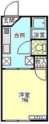 静岡県三島市文教町2丁目の賃貸アパートの間取り