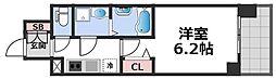 エスリード大阪CENTRAL AVENUE 11階1Kの間取り