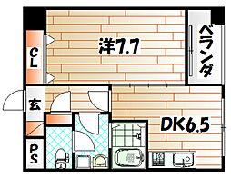 インターフェイス竪町[7階]の間取り
