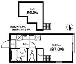 グリーンヒルズ横濱(ハーミットクラブハウス)[103号室]の間取り