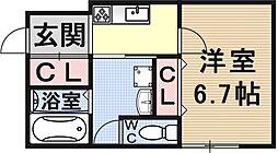 仮称)椥辻草海道町ハイツ[105号室号室]の間取り