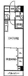 パークフラッツ新大阪[9階]の間取り