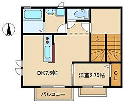 兵庫県尼崎市塚口町5丁目の賃貸アパートの間取り