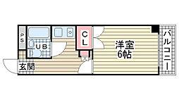 アコーズタワー神戸駅前[402号室]の間取り