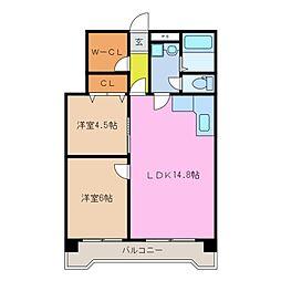 ロイヤルメゾンHAMADA[4階]の間取り