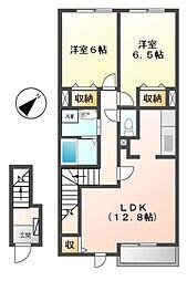 シャトレ城南 II[2階]の間取り