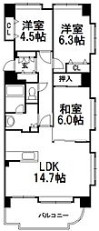 サンステージ東札幌[310号室]の間取り