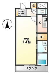 プライムメゾン東桜[8階]の間取り