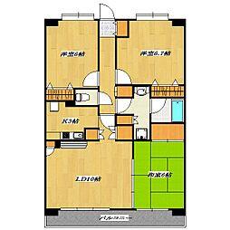 KW Residence〜NISHIKASAI〜[5階]の間取り