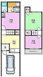 [テラスハウス] 大阪府寝屋川市上神田2丁目 の賃貸【/】の間取り