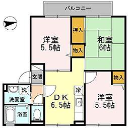 東京都昭島市拝島町1丁目の賃貸アパートの間取り