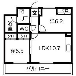 アコード鷹合[1階]の間取り