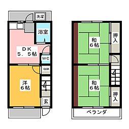 岸アパート[2階]の間取り