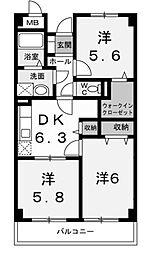 ファインウッド[3階]の間取り