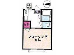 花沢ハイツ[2階]の間取り