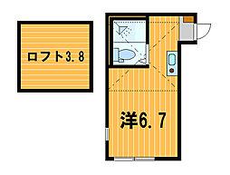 神奈川県横浜市磯子区洋光台1丁目の賃貸アパートの間取り