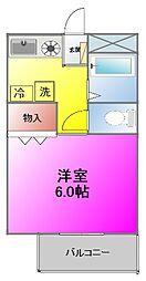 ANIMO[105号室]の間取り
