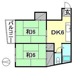 セキヤハイツ[302 号室号室]の間取り