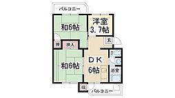 兵庫県宝塚市安倉南3丁目の賃貸マンションの間取り