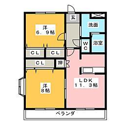 ドリームパレス5号[2階]の間取り